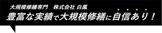 大規模修繕工事 株式会社白鳳 豊富な実勢で大規模修繕に自信あり!