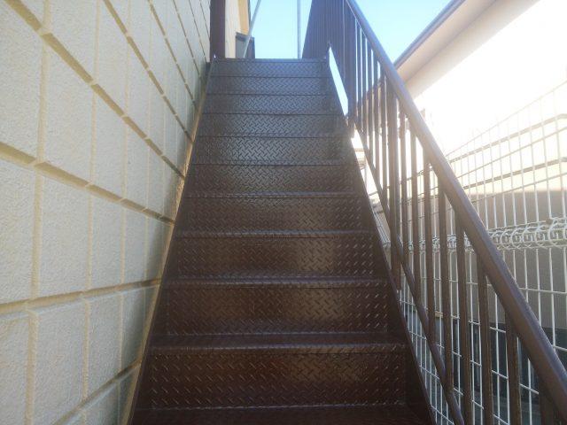 加古川鉄骨階段塗装工事