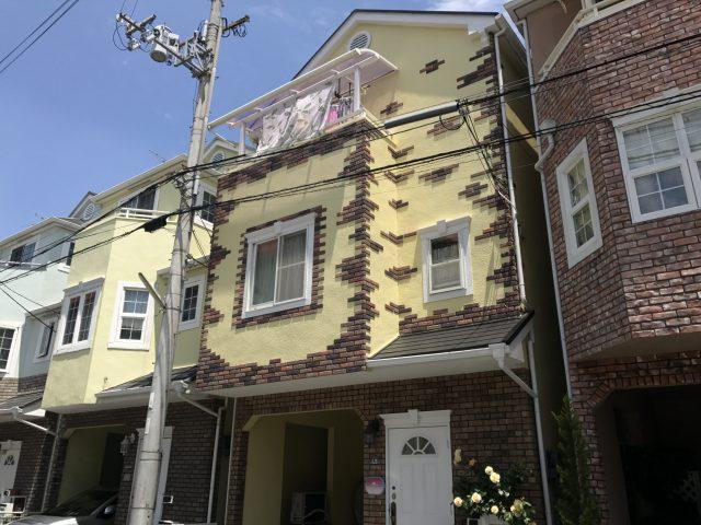 T様邸正面外壁塗装工事