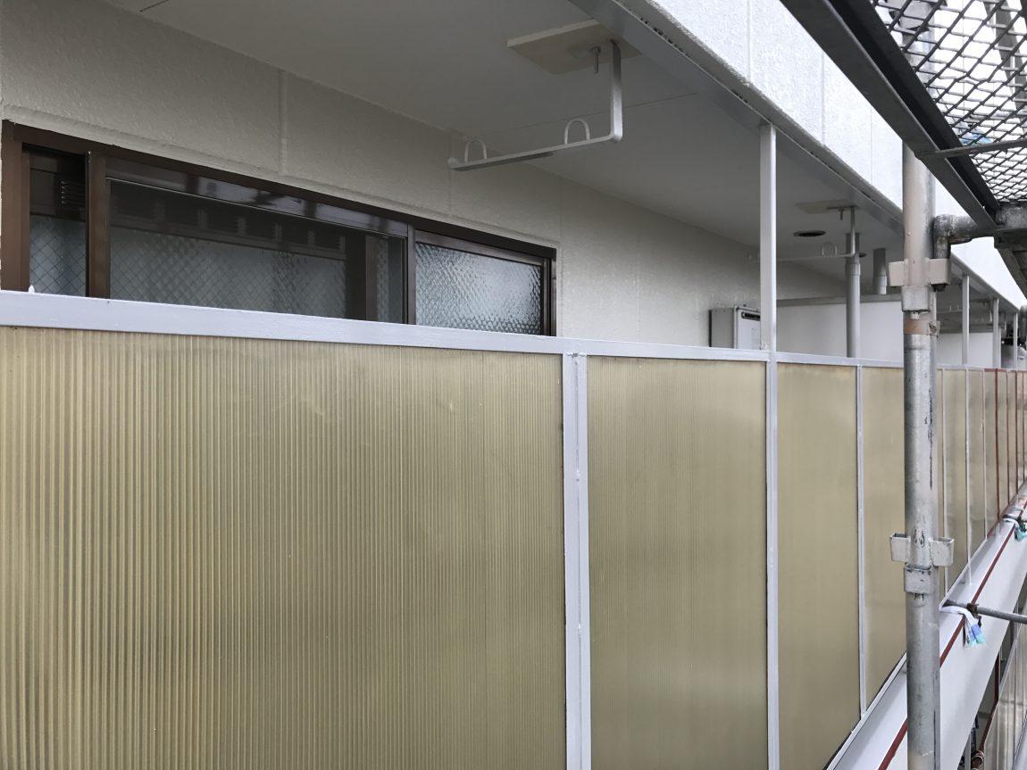 泉大津エースハイツバルコニー面塗装工事完了