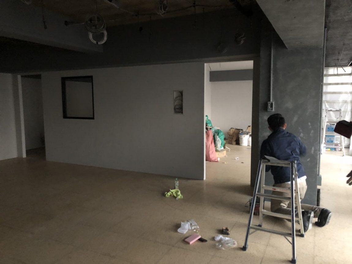 白鳳 新オフィス内部塗装工事